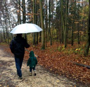 Sami e Andi na chuva floresta